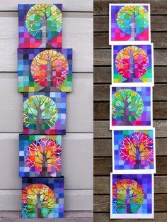 Loretta Grayson Little Trees Growing set of 5 prints