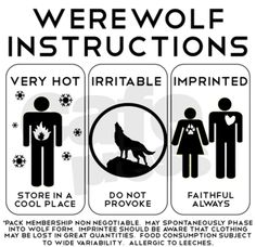 """""""What I really need is a good """"taking care of werewolves manual"""""""""""