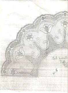 Archivo de álbumes Bobbin Lace Patterns, Embroidery Patterns, Embroidery Dress, Irish Crochet, Crochet Lace, Lace Art, Vintage Fans, Crochet Collar, Lacemaking