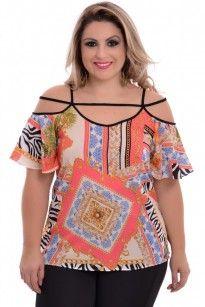 Blusa Plus Size Verão Tropical