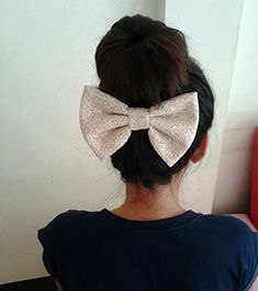CREAM FLORAL LACE BIG BOW HAIR CLIP >>> Details can be found by clicking on the image.