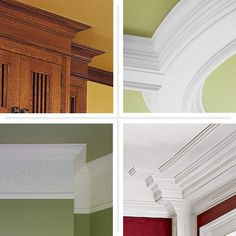 composite of different crown molding trim designs, this old house pinterest page top pins of 2013