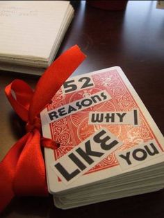 52 Reason I Like You playing card book