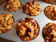 Caramelized Onion-Challah Stuffing Muffins
