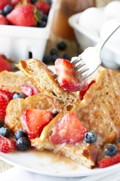 Get ready for the Best French Toast Ever! This french toast is made from challah bread and it's freezable too so you can enjoy a gourmet french toast breakfast any day of the week!