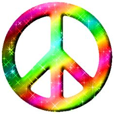 Peace Sign Glitter Graphics | Glitter Graphic Comment: Candy Colored Glittered Peace Sign