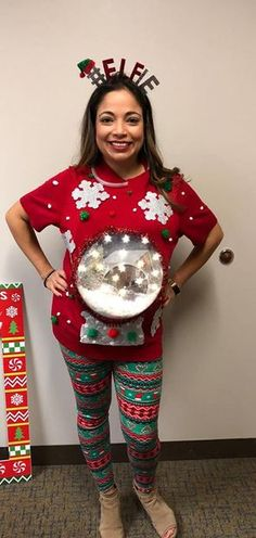 Embrace the tradition of doltish activities with ugly sweaters this Christmas. Here are some DIY ugly Christmas sweater ideas that will make you laugh uncontrollably. Making Ugly Christmas Sweaters, Homemade Ugly Christmas Sweater, Diy Ugly Christmas Sweater, Funny Christmas Outfits, Xmas Sweaters, Christmas Clothing, Tacky Sweater, Ugly Sweater Party, Christmas Ideas