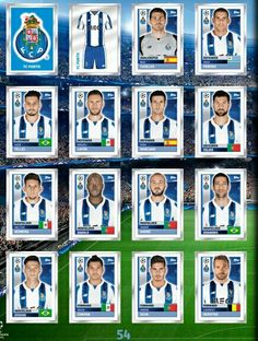 FC Porto team stickers for 2016-17.
