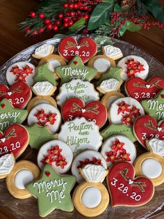 Engagement Party Cookies, Winter Engagement Party, Engagement Party Themes, Christmas Engagement, Wedding Cookies, Christmas Wedding Themes, Christmas Bridal Showers, Winter Bridal Showers, Christmas Bachelorette Party