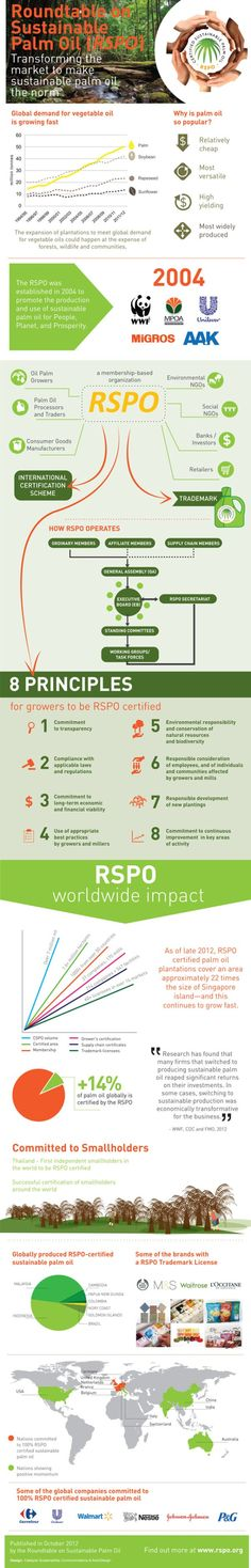RSPO Transforming the market to make Sustainable Palm Oil the norm