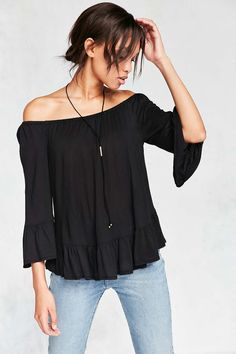 Ecote Lydia Boho Top - Urban Outfitters