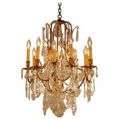 Magnificent French Crystal Chandelier | From a unique collection of antique and modern chandeliers and pendants  at https://www.1stdibs.com/furniture/lighting/chandeliers-pendant-lights/