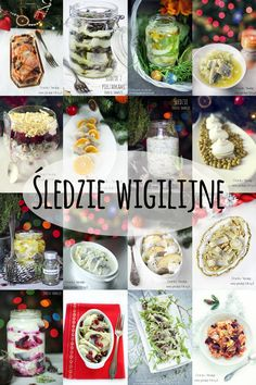 Śledzie wigilijne Polish Recipes, Appetisers, Seafood Dishes, Overnight Oats, Pasta Salad, Christmas Time, Meal Prep, Food And Drink, Menu