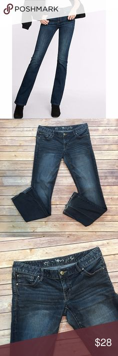 """🇺🇸SALE Express Barely Boot Cut Jeans Express Barely Boot Cut Jeans. 79% cotton, 19% poly, 2% spandex. Waist laying flat 15"""". Front rise 7""""/back 9"""". Inseam 33"""". Pic 1 for styling inspiration. Please carefully review each photo before purchase as they are the best descriptors of the item. (B002) Express Jeans Boot Cut"""