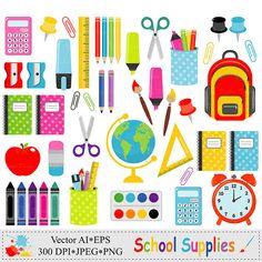 Útiles escolares Clip Art escuela gráfica papelería