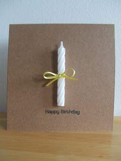 Eine schöne und einfache Geburtstagskarte mit Kerze