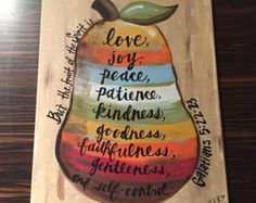 Fruits of the Spirit Painting on Canvas by HerDoodles Scripture Painting, Scripture Art, Bible Art, Bible Verses, Kids Canvas, Canvas Art, Canvas Ideas, Canvas Paintings, Painted Canvas