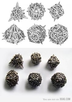 Never even played a RPG but i still want these dice Tabletop Rpg, Tabletop Games, Dungeons And Dragons Dice, Dragon Dies, Magic The Gathering, Decir No, Board Games, 3d Printing, Nerd