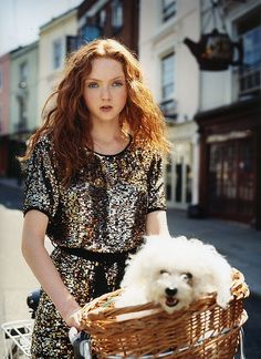 Lily Cole - Italian Vogue ( Flickr iainmckell ) - Pinned by Cycling (Cycle chic! Awww this is so precious. I would love to live in a place like this. www.wocycling.com)
