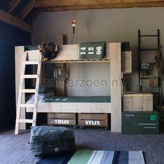 stapelbed Bink kopen bij Zomerzoen.nl. Stoer steigerhouten bed