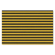 Gold and Black Stripes Tissue Paper