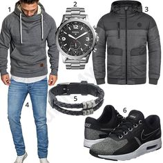 Bequemer Herren-Style mit Hoodie und Steppjacke (m0893) #hoodie #uhr #nike #jeans #armband #fossil #outfit #style #herrenmode #männermode #fashion #menswear #herren #männer #mode #menstyle #mensfashion #menswear #inspiration #cloth #ootd #herrenoutfit #männeroutfit