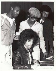 Classic Prince | 1978 For You - Prince appears to be signing autographs at a signing session. Looks like Pepé Willie may be behind Prince but I can\'t really tell...