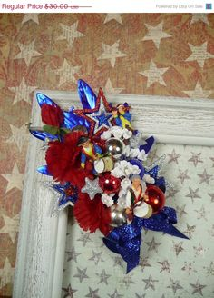 Patriotic Corsage Spirit of 76 Independence Day Red by meaicp, $24.00