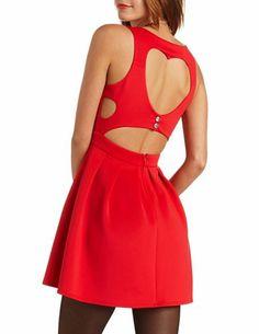 Heart Back Skater Dress: Charlotte Russe