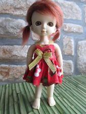 Hand made Christmas dress  for BJD 16cm, pukifee & lati yellow .. 1