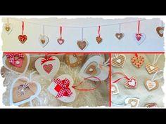 Tutorial: Cuori Decorativi Shabby Chic & Country Chic | Riciclo Creativo | Ghirlanda S.Valentino - YouTube