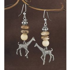 Sterling Silver Giraffe Earrings - Women's Clothing – Casual, Comfortable & Colorful Styles – Plus Sizes Giraffe Jewelry, New Today, New Shop, Colorful Fashion, Women's Earrings, Plus Size, Sterling Silver, Beads, Casual