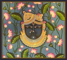 Kalamkari Painting, Tanjore Painting, Krishna Painting, Lotus Painting, Hand Painting Art, Fabric Painting, Saree Painting Designs, Glass Painting Patterns, Pichwai Paintings