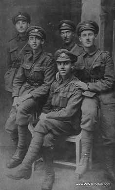 Soldiers In The 5th London Regiment (London Rifle Brigade) At Ypres