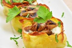 Cestini di patate ripieni
