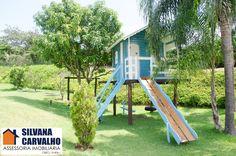 Casa de árvore de menina. Casinha fofa dentro de uma deliciosa área de lazer. Escorredor e casa de boneca Referência CA4236
