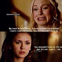 #TVD 6x15 ~ don't switch of your humanity Caroline..