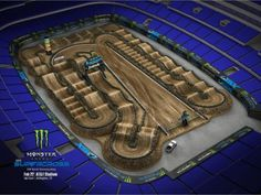 Whos ready for Arlington Supercross? Track map brought to you by arlingtonsupercross dirtbikes eastcoastsx fimworldchampionship monsterenergy racing supercross Dirt Bike Track, Rc Track, Jump Park, Motocross Tracks, Monster Energy Supercross, Pit Bike, Stage Set, Dirtbikes, Animal Party