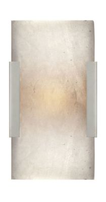KELLY WEARSTLER   COVER WIDE CLIP BATH SCONCE. Alabaster stone set in Antique Burnished Brass, Polished Nickel or Aged Iron