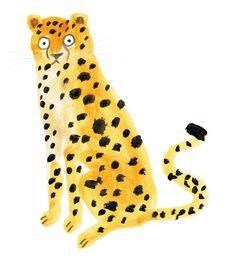 "lornascobie: ""Cheetah "" - Della U. Bad Drawings, Children's Book Illustration, Cat Art, Art For Kids, Artsy, Artwork, Prints, Painting, Leopards"