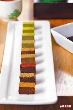 台灣茶綜合巧克力9味 200元  9種不同風味的生巧克力,茶香濃郁,風味各異。