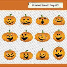Pumpkin Clipart By Digistockdesign Scary Faces Vector