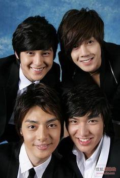 Lee Min Ho as Gu Jun- pyo Kim Hyun Joong as Yoon Ji-hoo Kim Bum as So Yi-jeong Kim Joon as Song Woo-bin Boys over Flowers