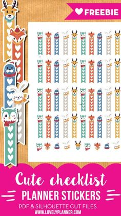Free Winter animals checklist stickers – Free printable and cut files {Advent Calendar – Day – Lovely Planner Free checklist stickers for your planner (Erin Condren Life Planner, Happy Planner…) with cute winter animals – Free PDF and silhouette cut file. Erin Condren Life Planner, To Do Planner, Free Planner, Happy Planner, Free Erin Condren, 2015 Planner, Planner Tabs, College Planner, Student Planner