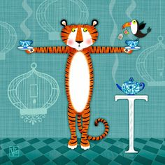 Picture Diary: T is for Tiger, Tea, and Toucan