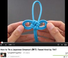 Omamori (御守) Tassel Knot -- How to Tie a Japanese Omamori (御守) Tassel Knot --by-- TIAT TyingItAllTogether Paracord Projects, Macrame Projects, Japanese Language Proficiency Test, Japanese Party, Knot Braid, Paracord Knots, Jewelry Knots, Passementerie, Weaving Patterns