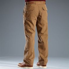 Men's Fire Hose Work Pants. Made from fire hose canvas.  Guaranteed for life.  From Duluth Trading Company.  Thinking...Luke for Christmas. :)