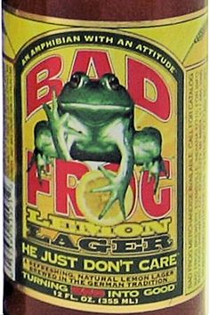 Label - Bad Frog, Amphibian with an Attitude