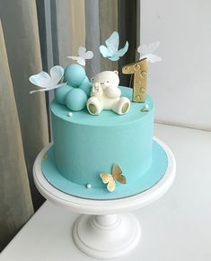 Toddler Birthday Cakes, Baby Boy Birthday Cake, Baby Boy Cakes, First Birthday Cakes, Girl Cakes, Cute Cakes, Pretty Cakes, Beautiful Cakes, Gateau Baby Shower