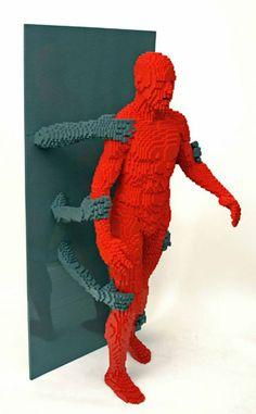 life size lego sculpture nathan sawaya
